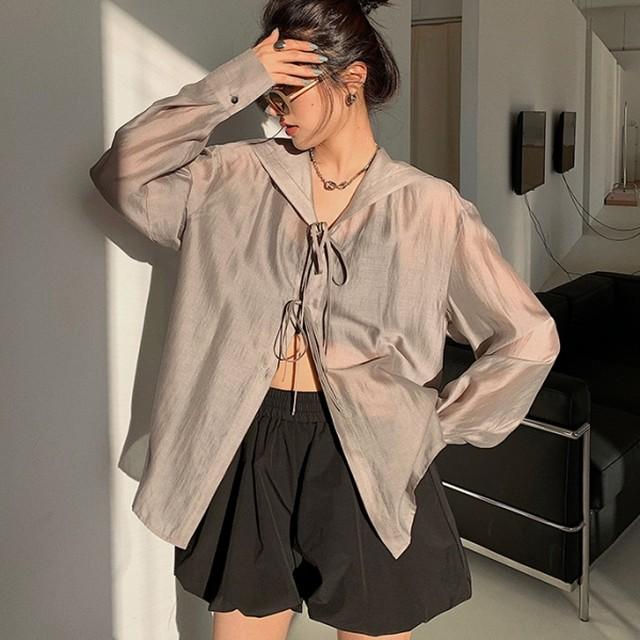 【アウター】ファッション無地ボウタイゆるリラックス個性派カーディガン44017829