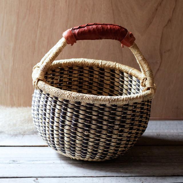 ガーナの手編み ボルガバスケット / 小 D