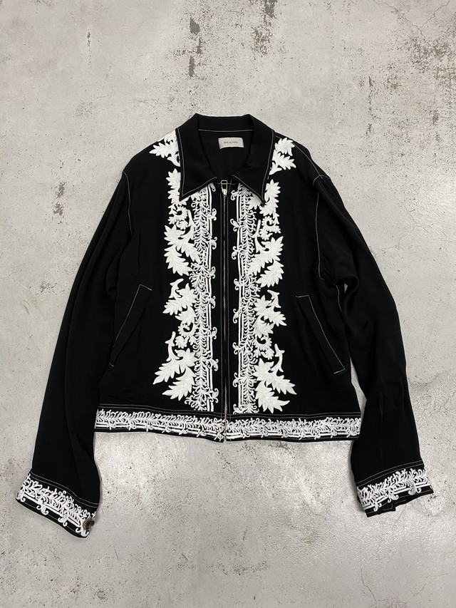 BED J.W. FORD /  Indian embroidery blouson(Black)