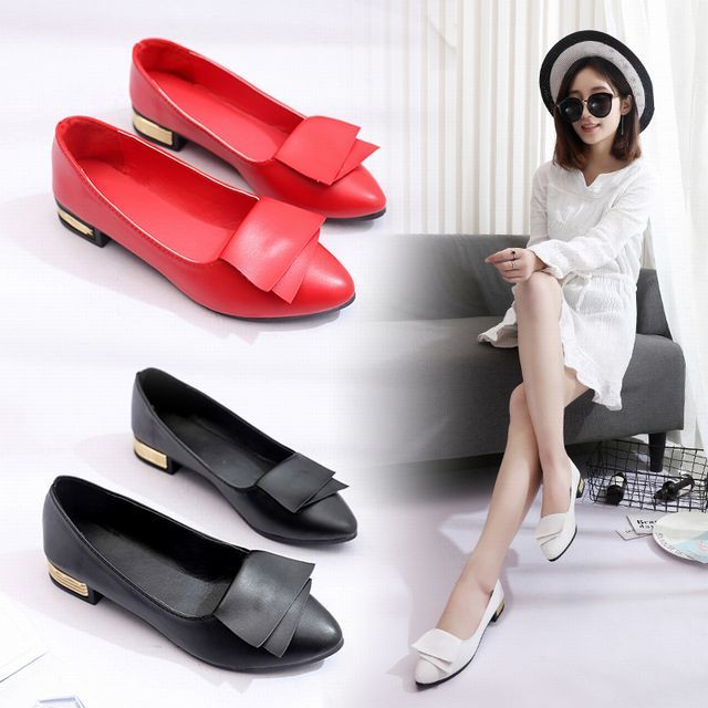 【Other】パンプス バレエシューズ ローヒール フラット スクエアトゥ / Pumps Ballet Shoes Low Heel Flat Square To (DCT-566183127050_f)