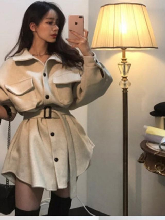 ポケットバックルジャケット ジャケット アウター 韓国ファッション