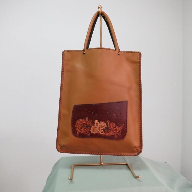 ダブルクロスステッチの特別な5種のお花カービングバッグ