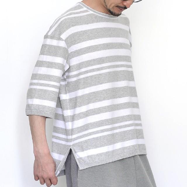 3990009_Crew neck half sleeve(Lグレー)