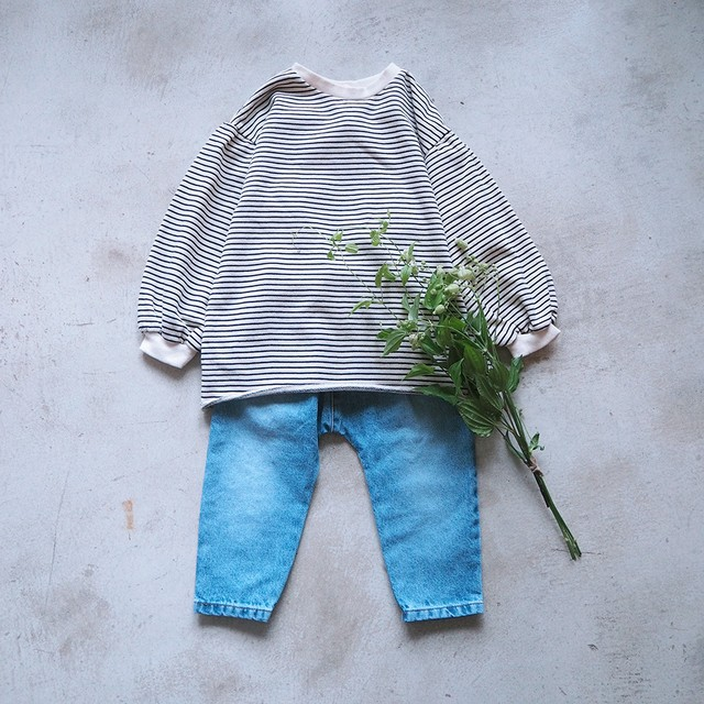 «sold out» border tunic ボーダースウェット