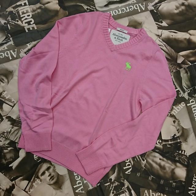 Abercrombie&Fitch  メンズVネックセーター XLサイズ