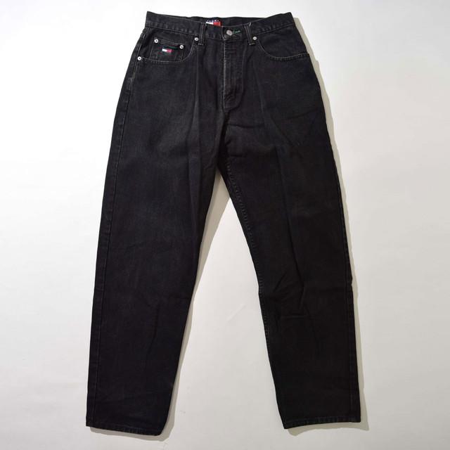 【W32】TOMMY HILFIGER トミーヒルフィガー DENIM デニムパンツ BLACK ブラック 32×32 400611191218