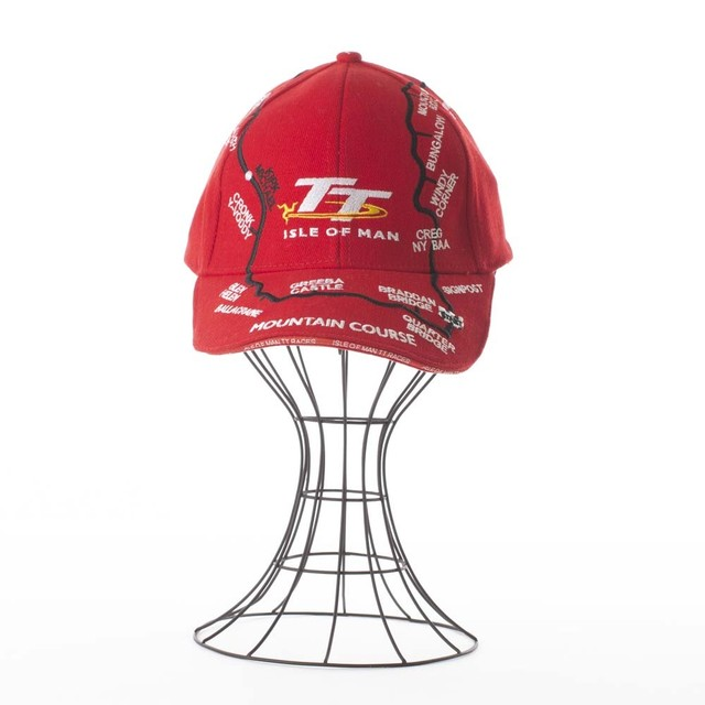 TT Couse Map Cap Red