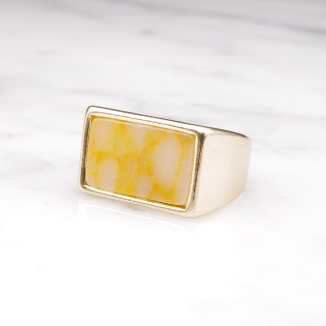 SQUARE MARBLE STONE RING