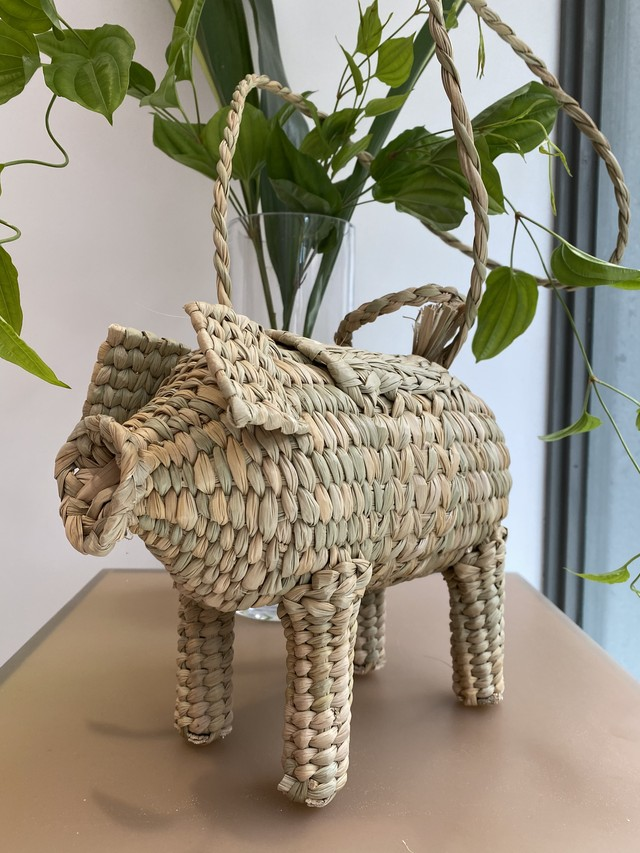 Mexico handmade pig straw  bag