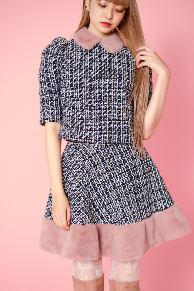 【Lilien Room】IT GIRL's Set Up - tops (Navy)