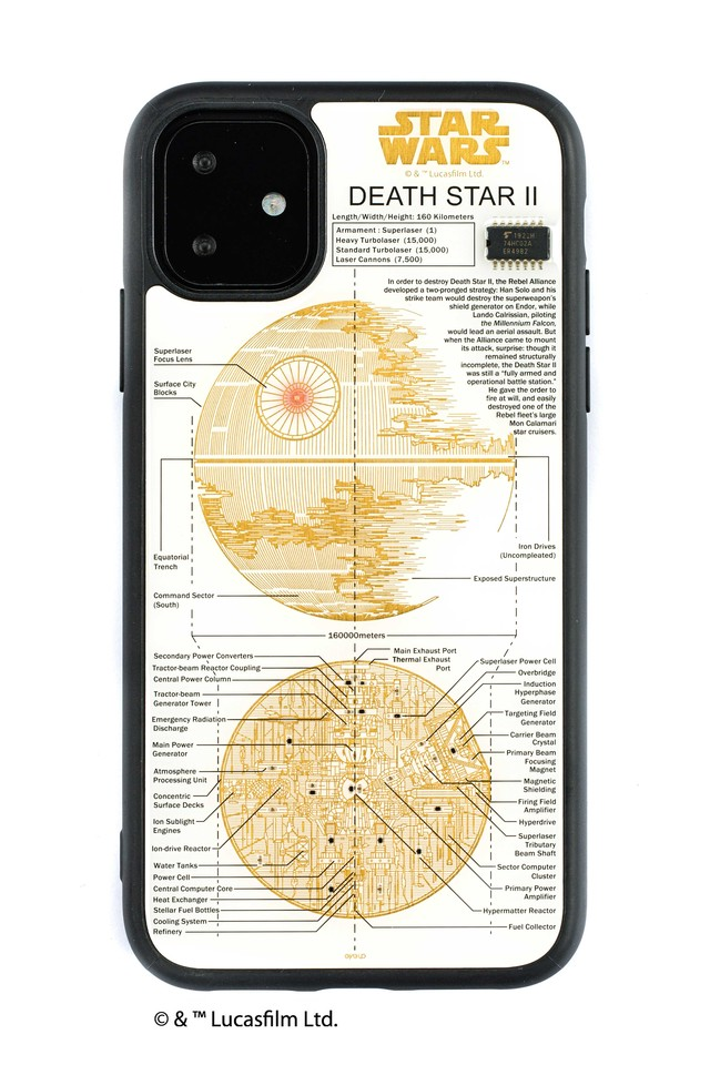 FLASH DEATH STAR 基板アート iPhone 11 ケース  白【東京回路線図A5クリアファイルをプレゼント】