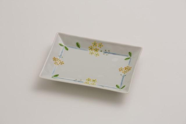 お届けは1月20日頃となります。 九谷フェス 長角皿 菜の花SALE-14