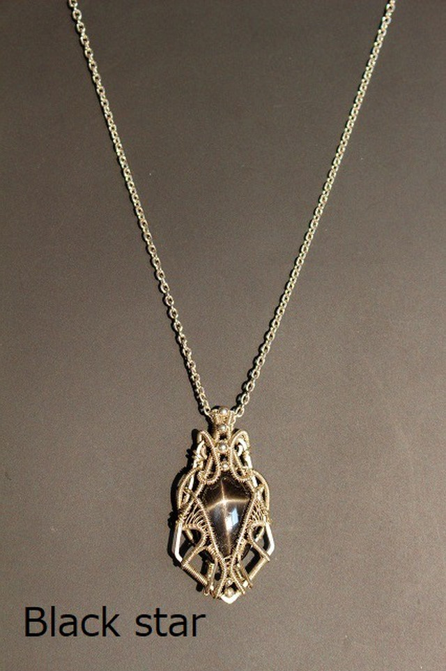 Blackstar wirewrapping silver925 pendant