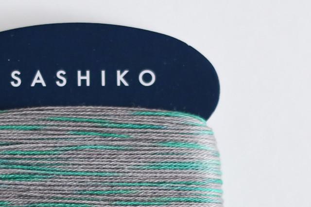 ダルマ刺し子糸<細> カード巻 2色かすり No.301 : SASHIKO Thin 2 colors kasuri No.301