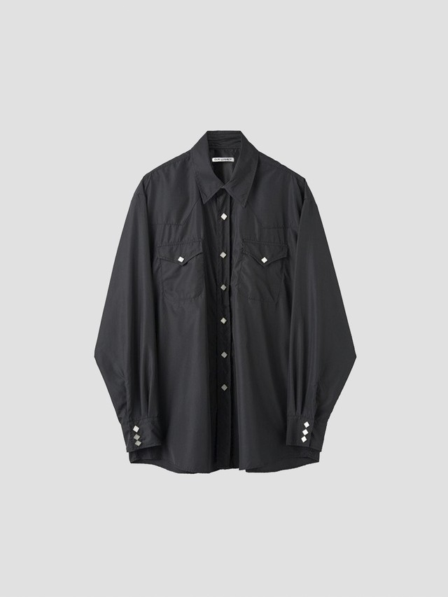OUR LEGACY RANCH SHIRT BLACK DULL LUSTER M2212RB