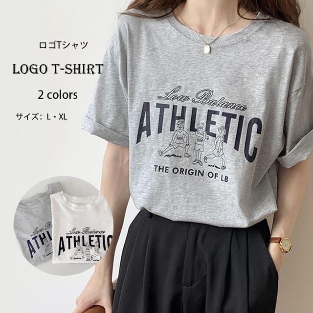 【即納】ロゴTシャツ プリント トップス fa2321