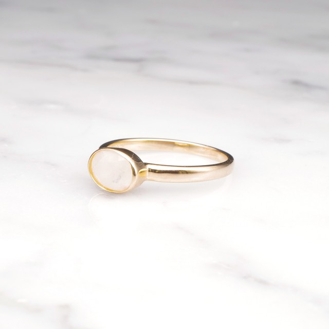 S925 MINI RAINBOW MOONSTONE RING GOLD 002