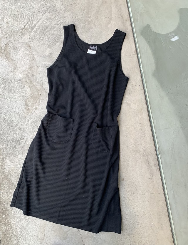 """"""" Southern Lady """" vintage sleeve less rib onepiece"""