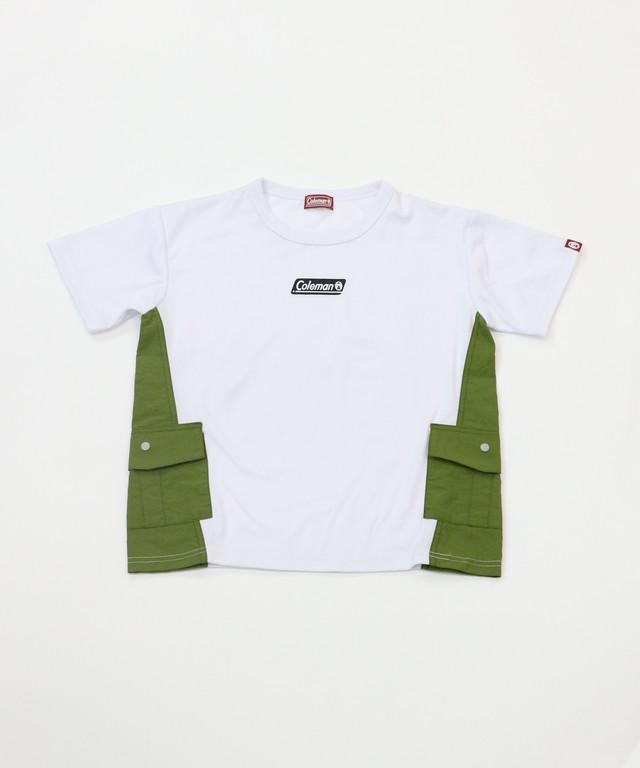 【Coleman】 異素材ポケット付き半袖TEE