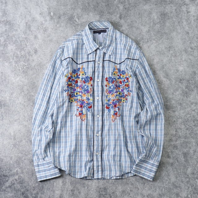 """"""" TOMMY HILFIGER """"  L/S   Embroidery  Western   Shirts    L A314"""