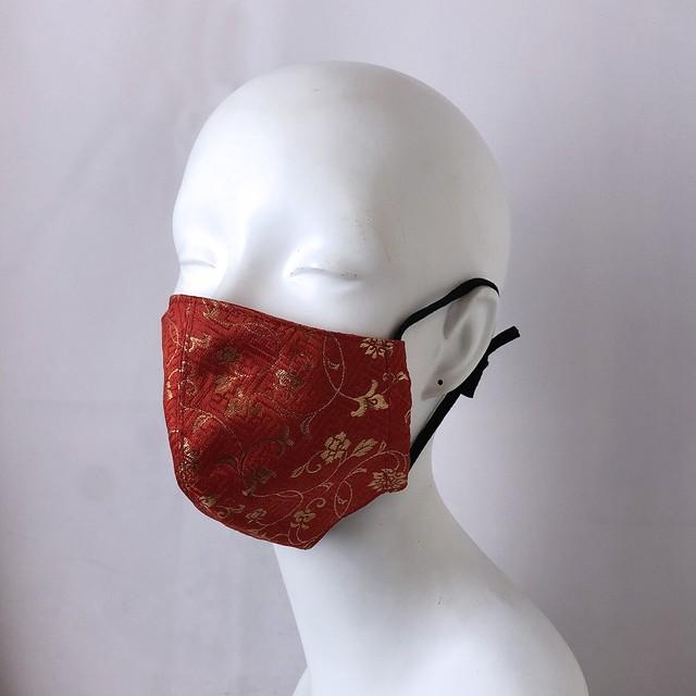 西陣織マスク赤