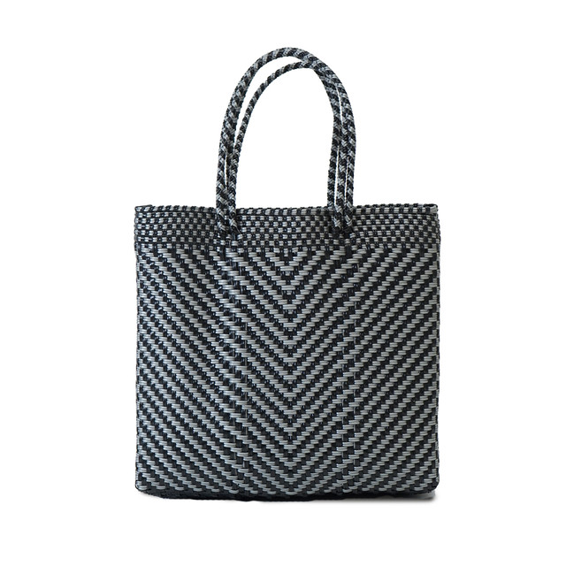 MERCADO BAG ESPIGA SEMILONG HANDLE  - Silver x Black(S)
