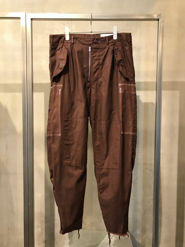 TrAnsference Swedish army tapered pants - dark brick