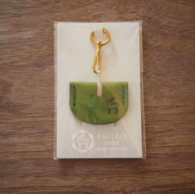 鍵の帽子(松葉色 / MATSUBA IRO)鹿のロゴマーク入り
