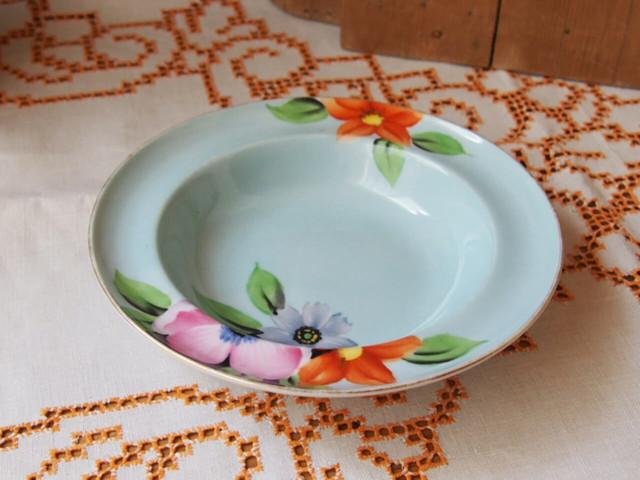 イギリスアンティーク 花柄の小皿(NORITAKE)
