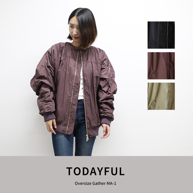 TODAYFUL | Oversize Gather MA-1  11820202