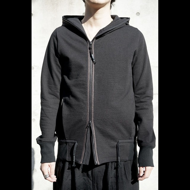 [D.HYGEN] ST101-0121S Heavy cotton jersey hooded JKT