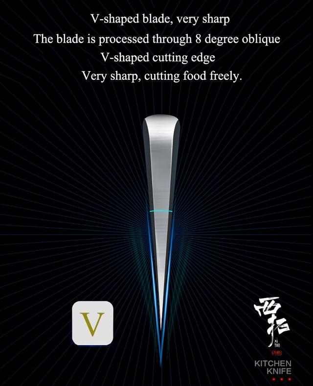 XITUO 2本セット 牛刀 ペティナイフ 7CR17  As20061811
