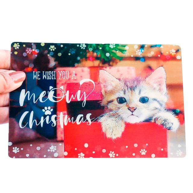 クリスマスカード ねこ箱