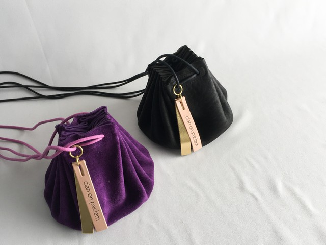 THE SUPERIOR LABOR leather bottom shoulder bag S / レザーボトムショルダーバッグS