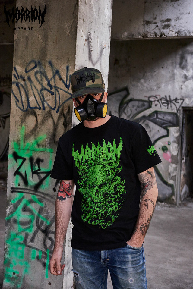 SKULL TENTACLE TEE (Black×Green)