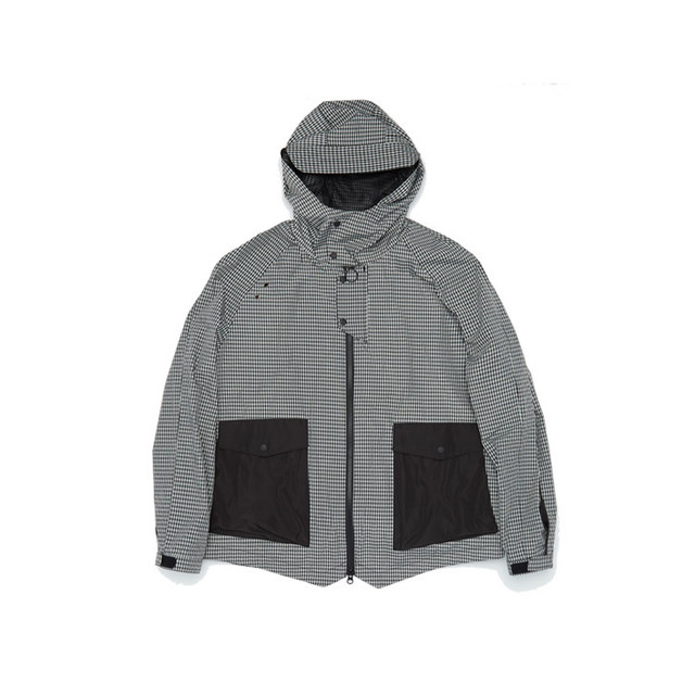 Flow Pocket Hooded Jacket gingham check ジップアップ ジャケット