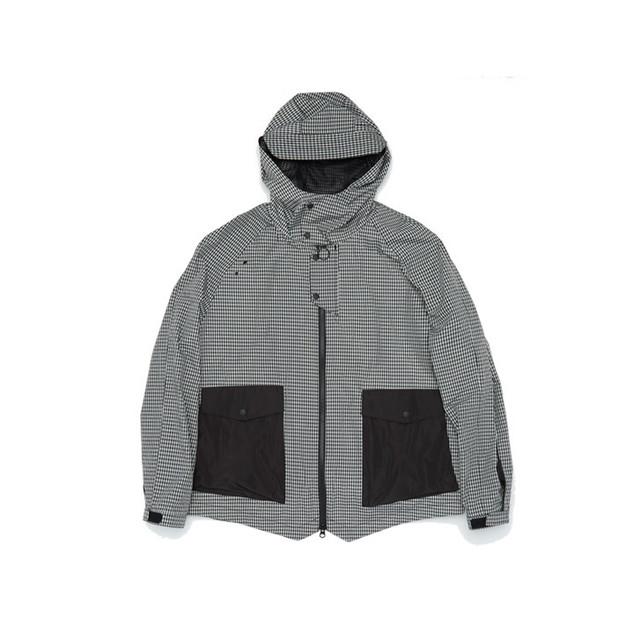 Flow Pocket Hooded Jacket gingham check ジップアップ ジャケット