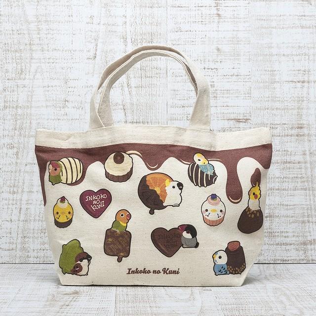 ◆毎日が楽しくなる♪チョコとインコミニトートバッグ