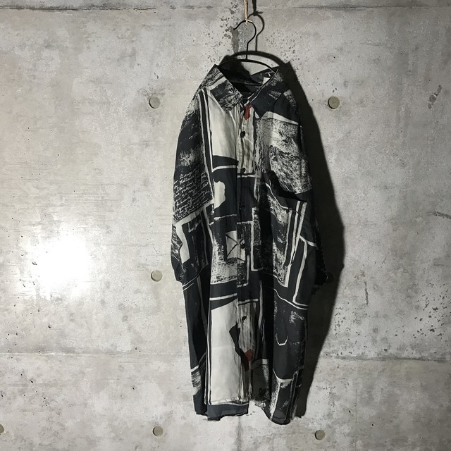 [used] picture designed half shirt