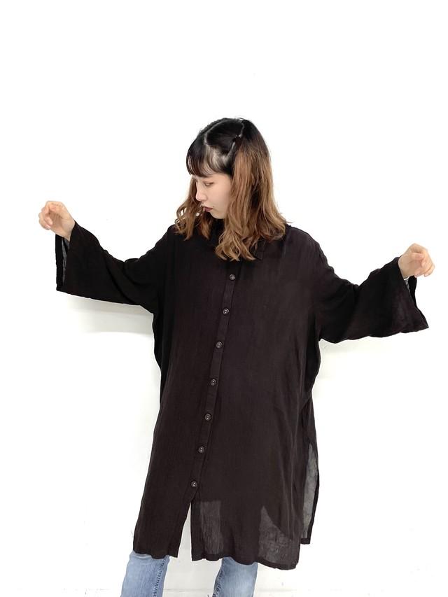 crinkle shirt one-piece /3SSOP02-02