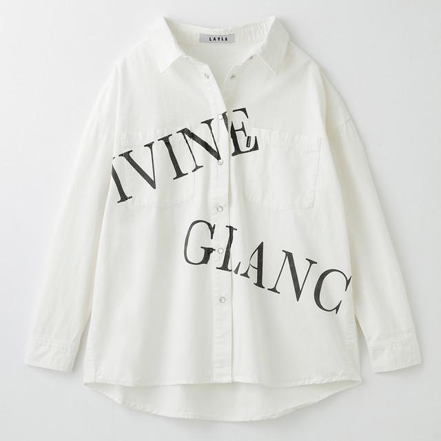 ロゴプリント3WAYデニムBIGシャツ (L19044-032)