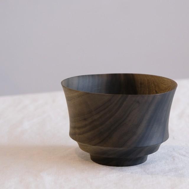 イイダウッドターニング iiDA Woodturning  お椀  クスノキ 鉄媒染  i-009