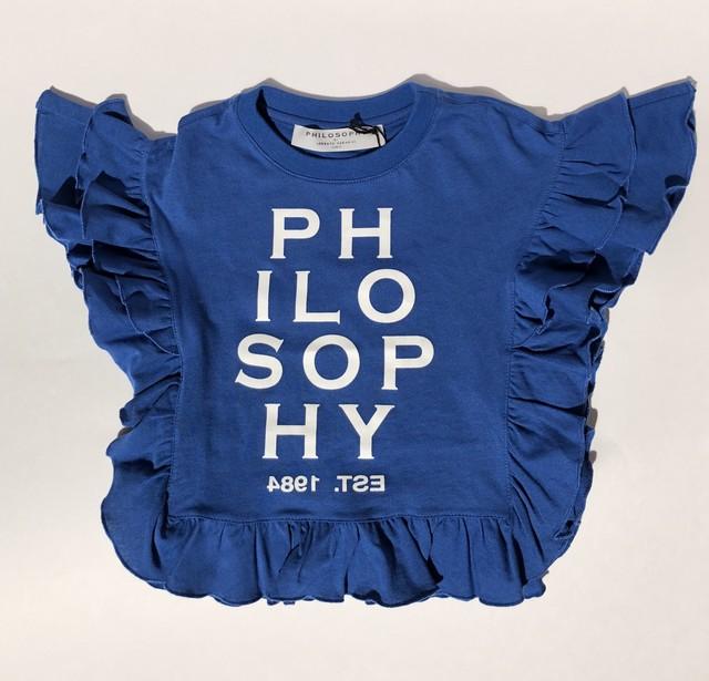 Philosophy 袖レースTシャツ(BK)(S~M) フィロソフィ