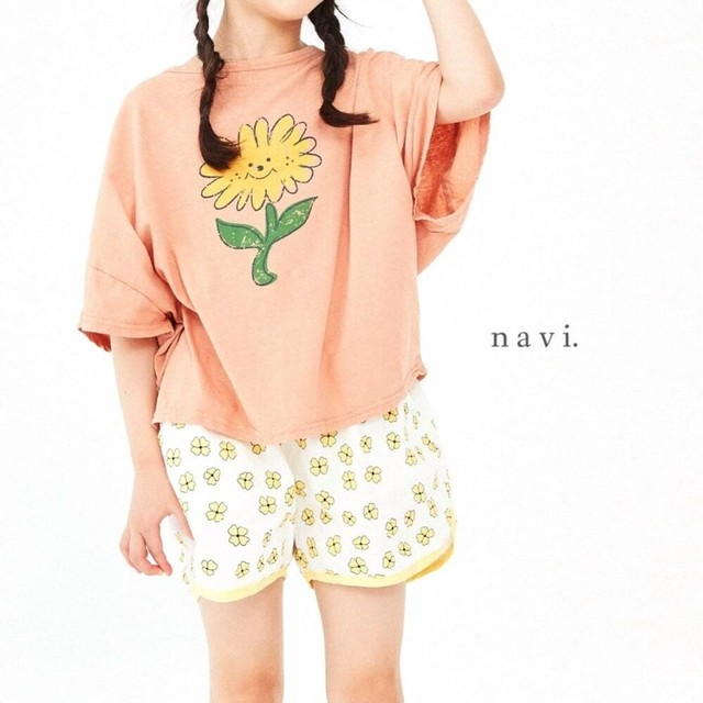 «sold out» flower T shirt 2colors フラワーTシャツ