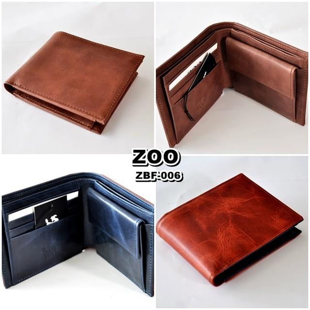 【ZOO】ズー  (バジャービルホールド4)ZBF-006 キップレザー製二つ折り財布