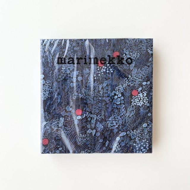 予約商品|2021秋冬【marimekko】ランチサイズ ペーパーナプキン KURJENMARJA  ブルー 20枚入り