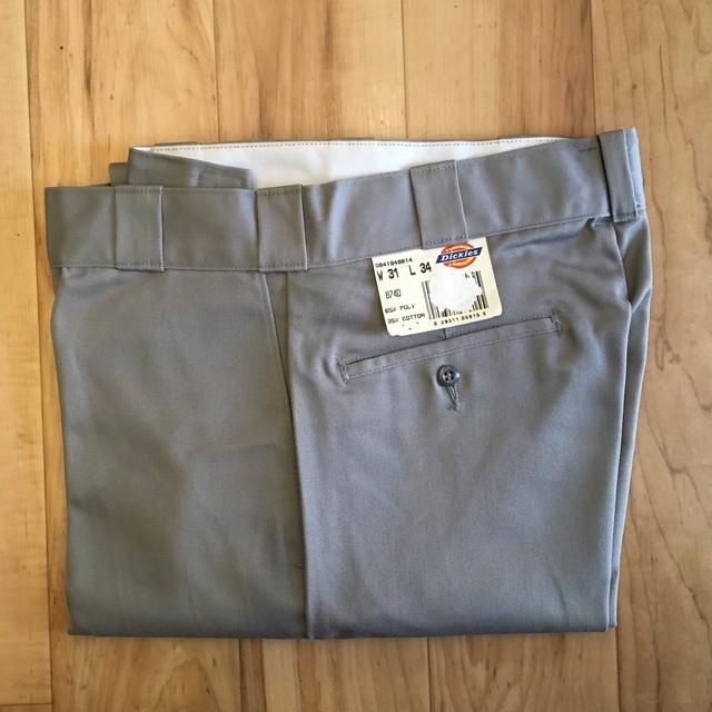 "Dickies LOOSE FIT DOUBLE KNEE WORK Pants -OLIVE-38 inch ""Made in USA"" <Deadstock>"