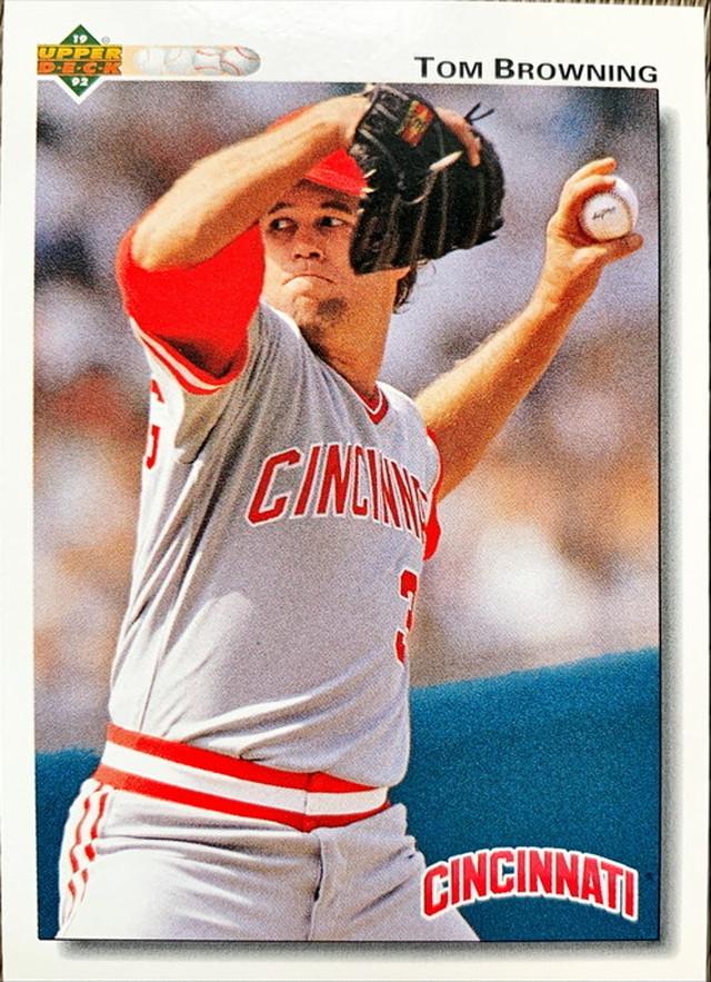 MLBカード 92UPPERDECK Tom Browning #461 REDS
