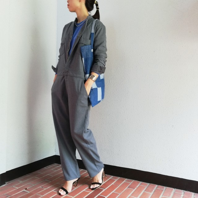 UNIVERSAL OVERALL(STAND-UP COLLAR JUMPSUIT)