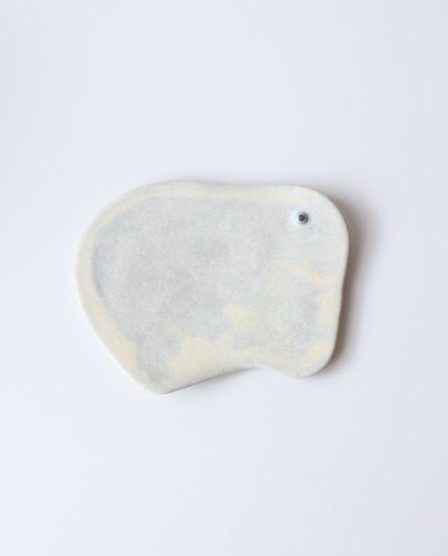 動物プレート(柔らかい白) L  皿